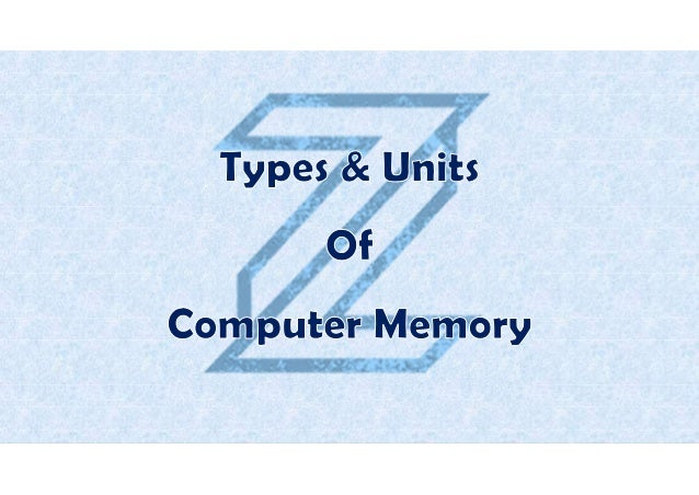 Computer memory is the storage space in computers where data and instructions to be processed are stored, either for tempo...