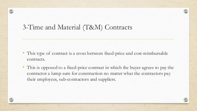 Types of contract in project management for Fixed price construction contract template