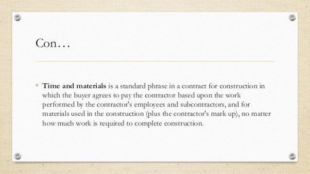 Types of contract in Project management – Types of Construction Contract