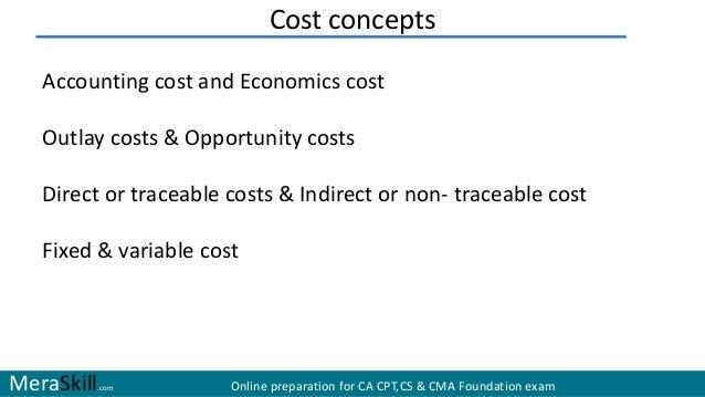 economic cost versus accounting cost In accounting, costs are the monetary value of expenditures for supplies, services, labor, products, equipment and other items purchased for use by a business or other accounting entity it is the amount denoted on invoices as the price and recorded in bookkeeping records as an expense or asset cost basis.