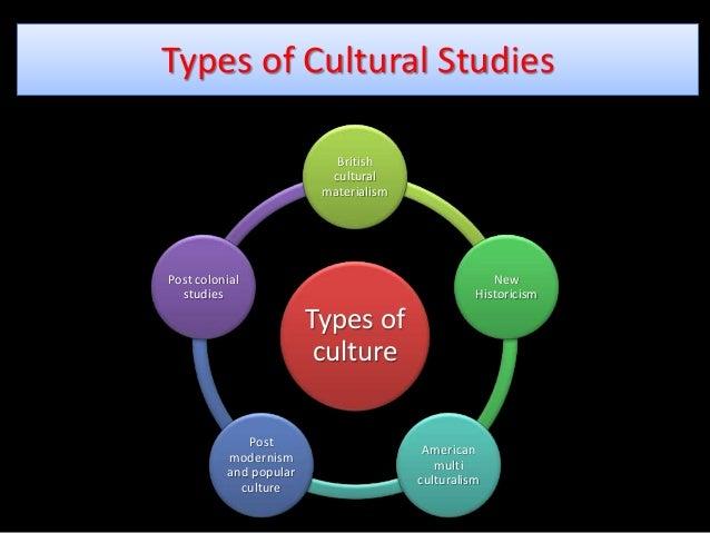 Types of cultural studies