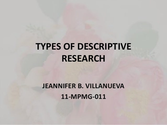 Types of Research within Qualitative and Quantitative ...