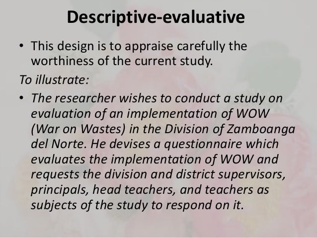descriptive research design example