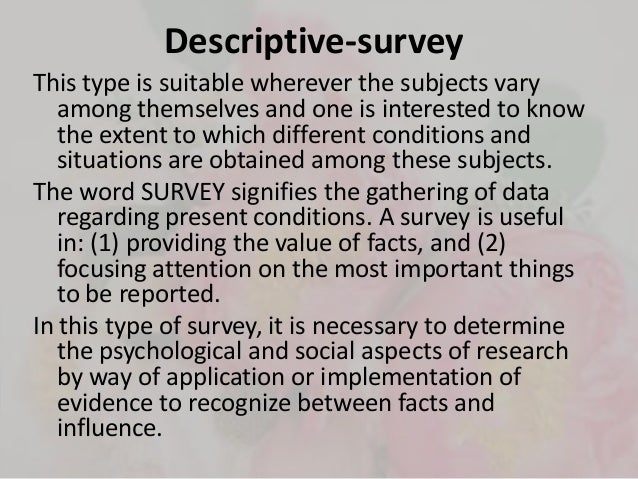 kinds of descriptive research Types of research 1 various types of researches vaisali k b070225ar and develop descriptive research innovative technologies definition and types of research.