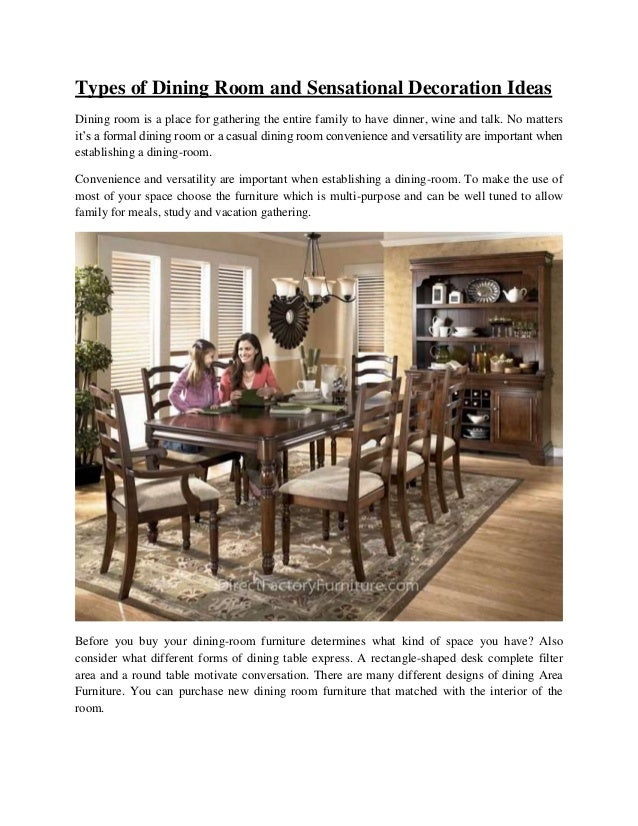types of dining room and sensational decoration ideas