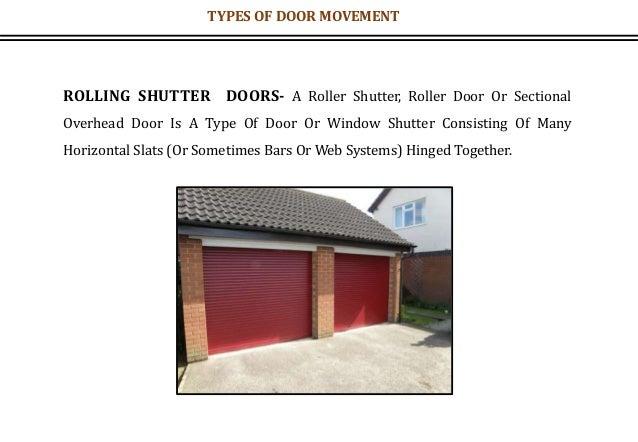 ROLLING SHUTTER DOORS- A Roller Shutter, Roller Door Or Sectional Overhead Door Is A Type Of Door Or Window Shutter Consis...