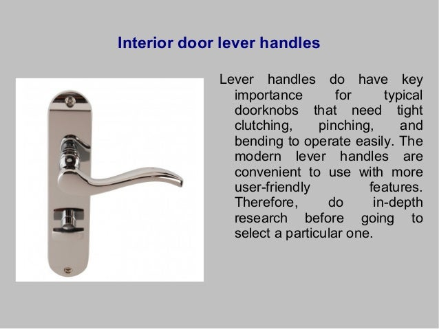 Different Types Of Door Hardware And Their Utility
