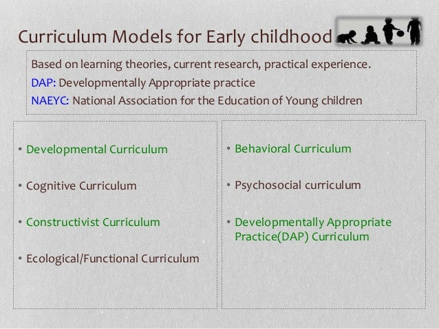 types of early childhood curricula by arianny calcagno  m ed