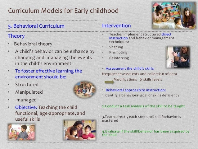 types of preschool curriculum types of early childhood curricula by arianny calcagno m ed 967