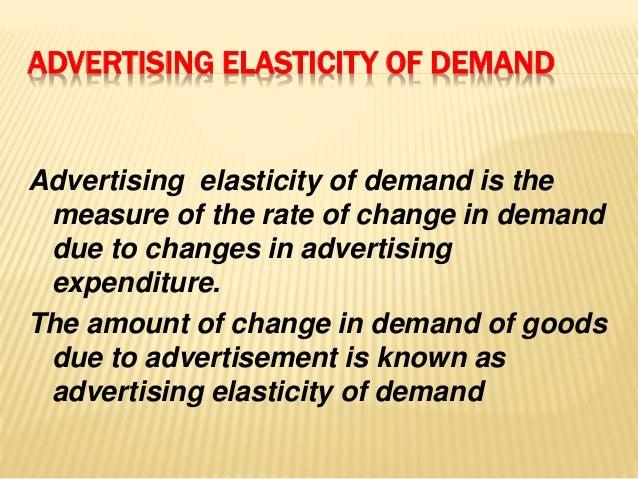 Types of elasticity of demand