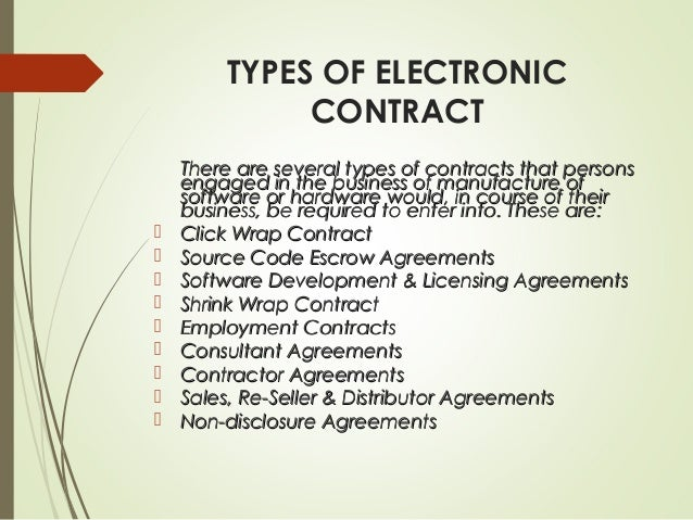 Types Of Electronic Contracts