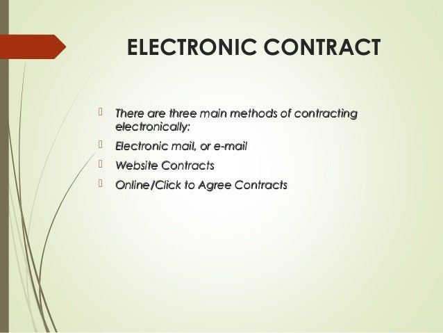 3. ELECTRONIC CONTRACT ...