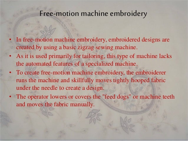 Types Of Embroidery Machine