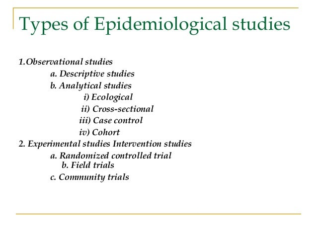 Chapter 6- Analytic Epidemiology: Types of Study Designs ...