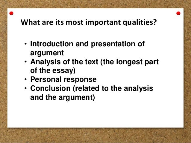 Analytical Essay and Argumentative Essay