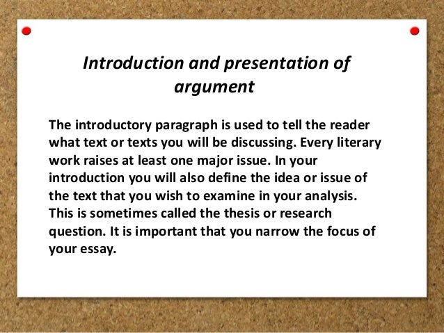 analytical essay and argumentative essay