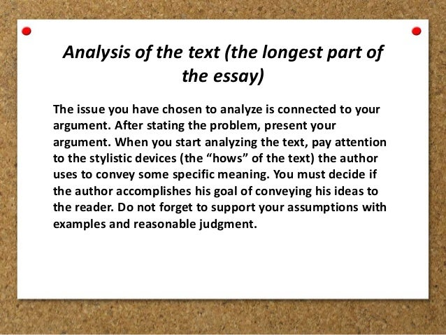 An analytical essay is also sometimes called