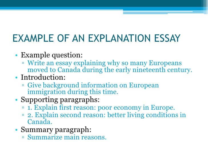 example summary essay