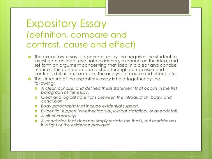 types with essay or dissertation along with definitions