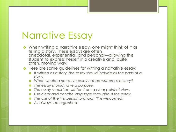 types of essays 6 narrative essay