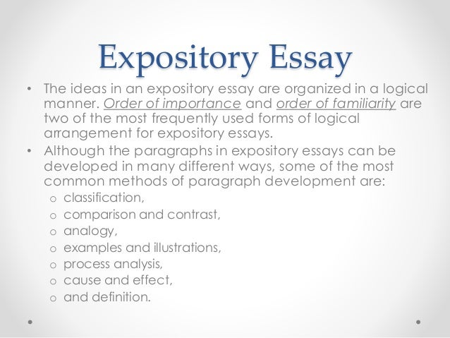 types of essays expository essay
