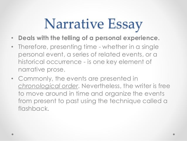 Order narrative essay