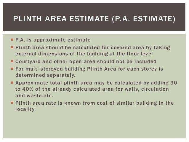 Types of estimates for Estimates to build a house