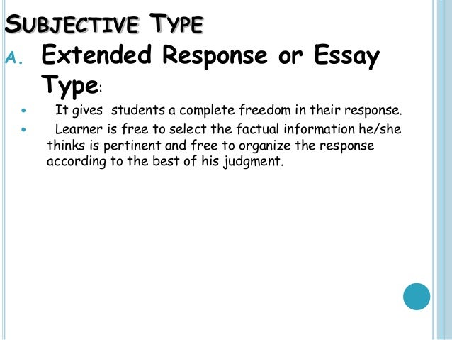Short essay advantages of written examination