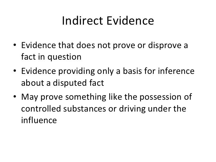 Types Of Evidence Presentation