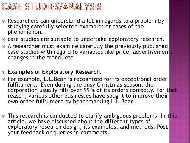exploratory research methods