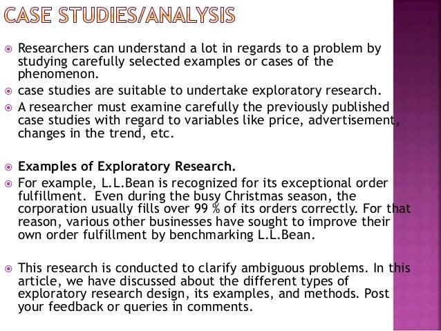 exploratory research methods