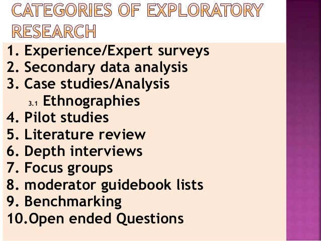 example of exploratory research