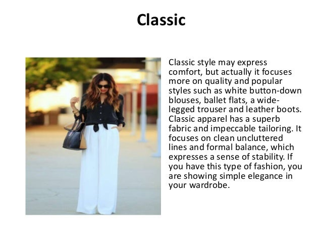 Types of fashion styles r