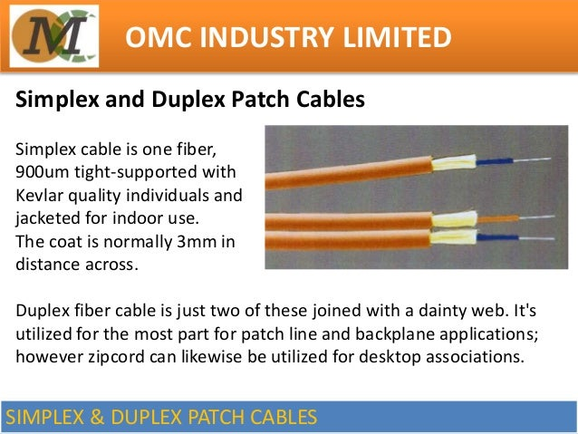 Common Types Of Fiber Optic Cables