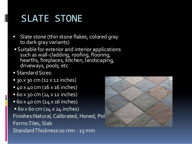 21. Types of floor finishes