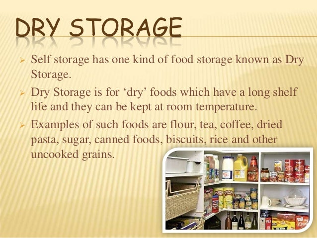 sc 1 st  SlideShare & Types of food storage