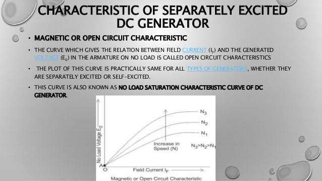 dc generator characteristicscharacteristic of separately excited dc generator \u2022 magnetic or open circuit characteristic \u2022 the curve