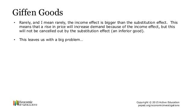 normal and inferior goods examples