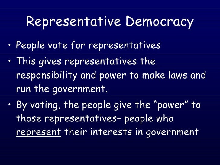 the functions of representation in a democratic government
