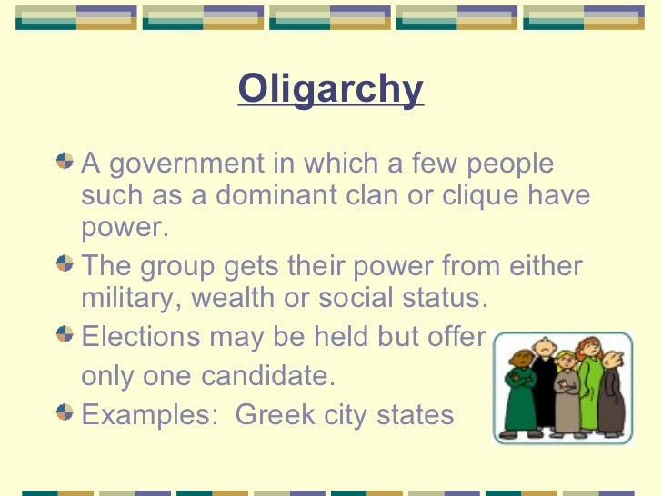 who governs some sort of oligarchy