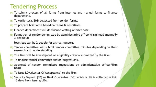 Types of Government Pricing Mechanisms & Tenders