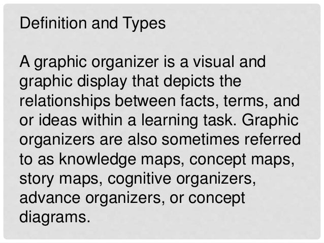cognitive organizers