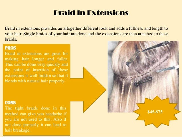 How to choose the best method for hair extensions cons 3 braid in extensions pmusecretfo Gallery