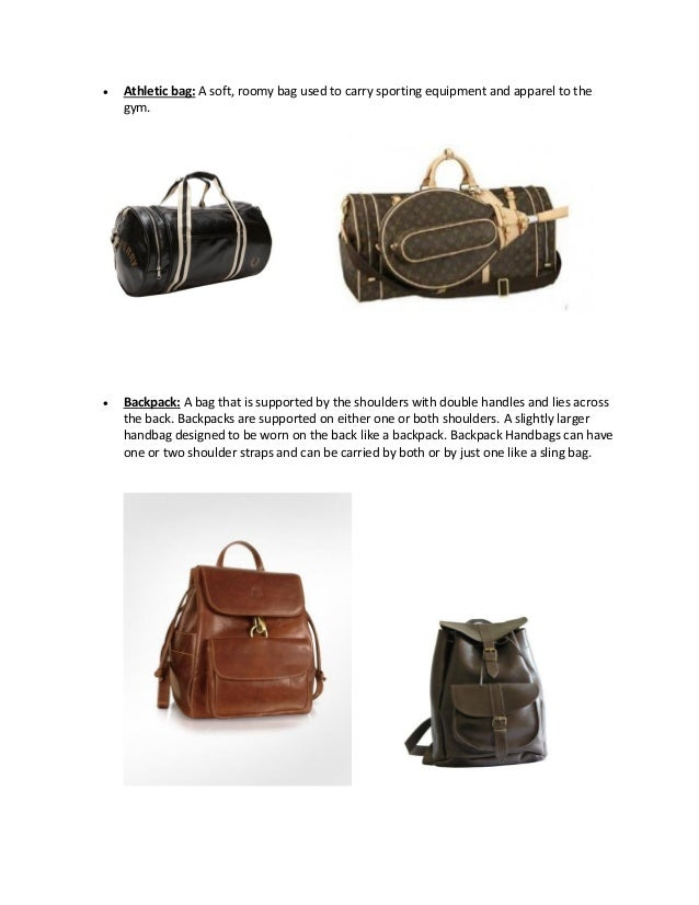List of all the types of Leather Bags..!!
