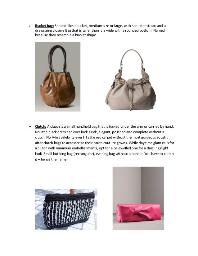 List Of All The Types Of Leather Bags