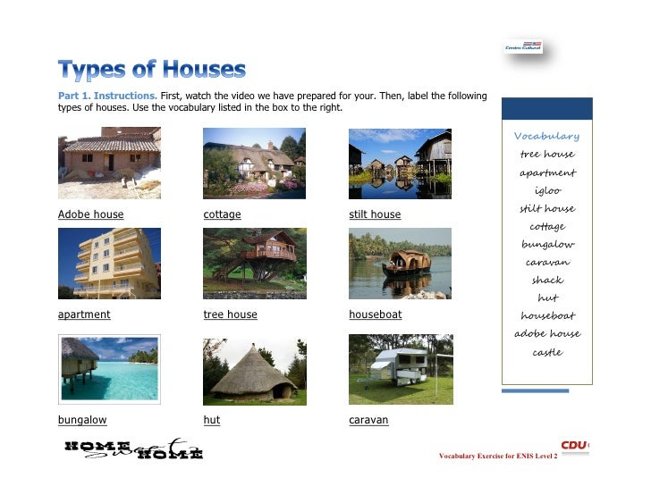 Types of homes answers