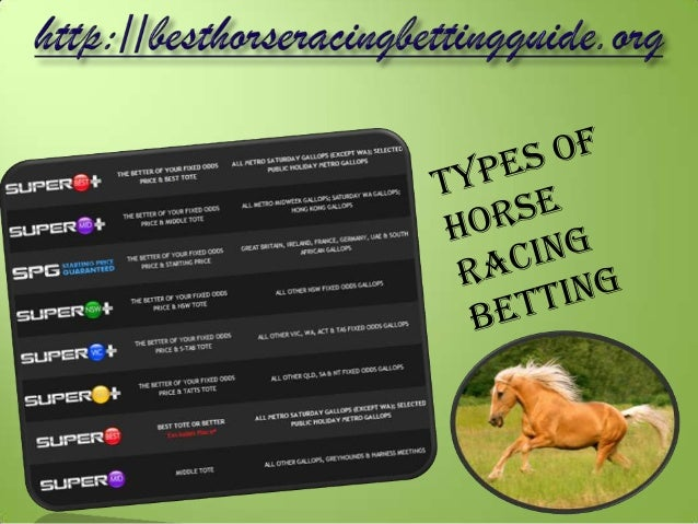 Types of bets on horse races redskins cowboys line betting