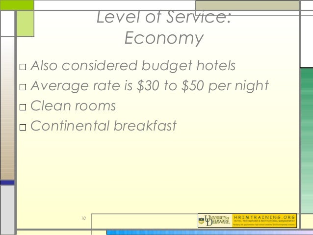 Average Length Of Stay For Food Service Industry
