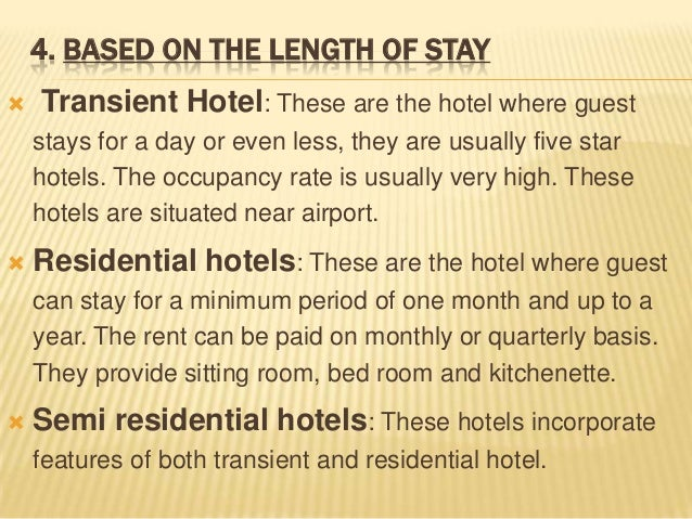 Types Hotels