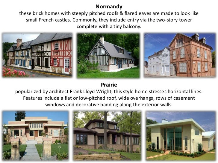 Types of house for Different kinds of houses